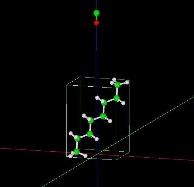 オクタン分子試料モデル