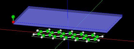 ペンタセン分子試料モデル