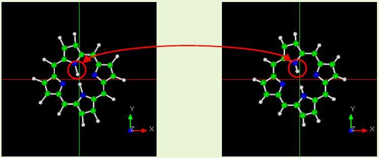 ポルフィリンの構造緩和