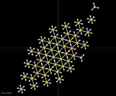 水素終端された立方体のモデル