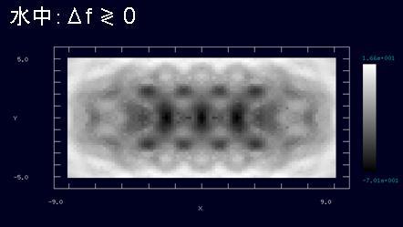 ペンタセンのAFM像(周波数シフト像)