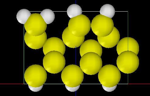 Si(001)-3x1:H表面モデル