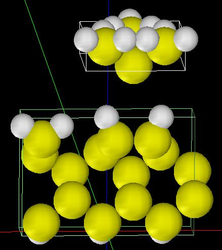 Si(001)-3x1:H表面のSTS計算モデル
