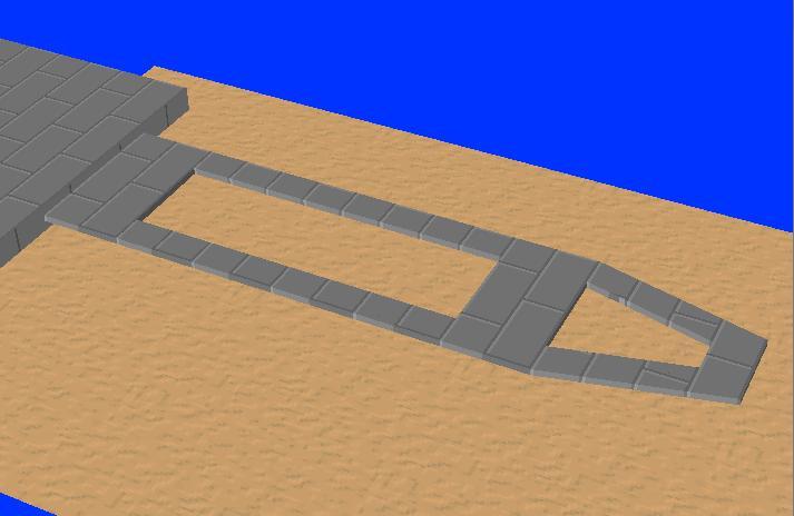 カンチレバーの形状(孔が2個)