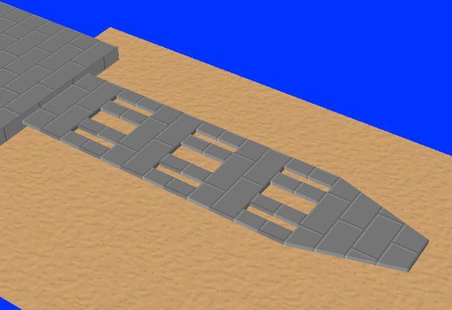 カンチレバーの形状(孔が多数)