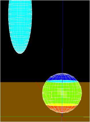 帯電した球体計算例モデル